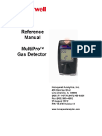MultiPro Gas Detector Reference Manual