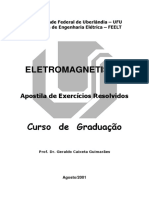 Apostila Execícios Resolvidos Eletromagnetismo UFU 2001(1)
