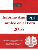 Informe Anual Empleo Enaho 2016