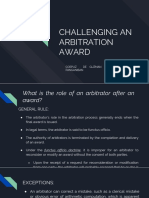 Challenging an Arbitration Award
