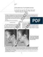 Parotidectomy Facelift Incision