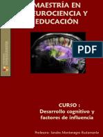 Desarrollo Cognitivo y Fctores de Influencia - Sandra Montenegro