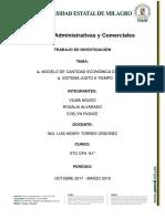 MODELO DE CANTIDAD ECONÓMICA DE PEDIDO Y EL SISTEMA JUSTO A TIEMPO