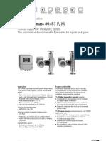 EndressPromass80-83F-MDataSheet