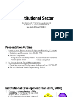 Summary of Institutional Sector