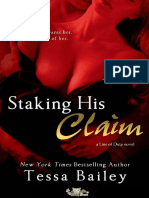 Staking His Claim (Line of Duty #5) - Tessa Bailey