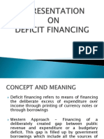 Presentation on deficit financing