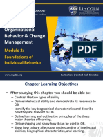 Module 2 - Foundations of Individual Behavior