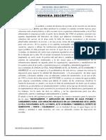 4. Memoria Descriptiva General querocoto