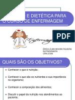 Nutrição e Dietética Para o Curso de Enfermagem 2012