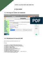 Instructivo Clonezilla Servidores Linux