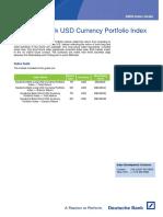 Deutsche Bank USD Currency Portfolio Index - Guide 20160120