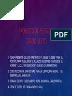 Proyecto de RELIGION Grado Sexto