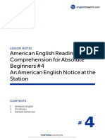 04 an American English Notice at the Station