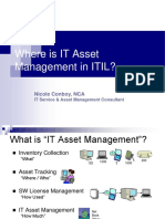Asset Management for ITSMF Nicole Conboy, NCA