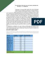 Consumo Per-cápita de Agua Potable-Trujillo