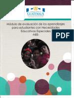 Módulo de Evaluación de Los Aprendizajes Para Estudiantes Don Necesidades Educativas Especiales -NEE