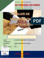 Caratula de Taller de Negociacion y Conciliacion