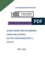 Informe Tecnico Transformador Trifasico Tipo Tece 3099