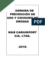 PROGRAMA DE PREVENCIÓN DE USO Y CONSUMO DE DROGAS MYB CARNIMPORT.pdf
