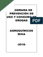 Programa de Prevención de Uso y Consumo de Drogas