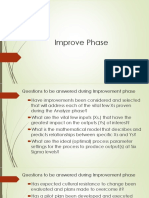 Session- Improve Phase