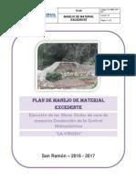 6. ANEXO N° 06. PLAN DE MANEJO DE MATERIAL EXCEDENTE