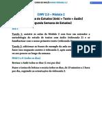 M02V04 - PDF - Segunda Semana - Cronograma de Estudos