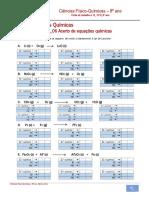Ficha de Trabalho n.º 6_06_Acerto de Equações Químicas