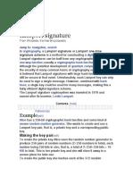 Lamport Signature