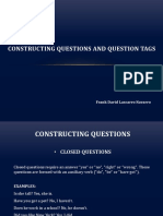 Constructing Questions and Question Tags