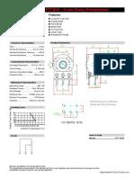 B1k Rotary Potentiometer Spec Sheet