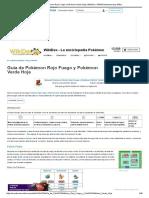 Guía de Pokémon Rojo Fuego y Pokémon Verde Hoja _ WikiDex _ FANDOM Powered by Wikia