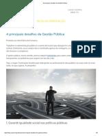 4 Principais Desafios Da Gestão Pública