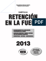 Cartilla retefuente 2013