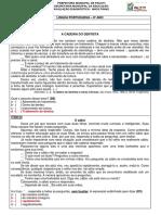 Avalição Diagnóstica 8º ANO Com Gabarito e Descritores