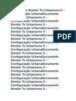 Documents Similar to Urbanismo II - Configuração Urbana