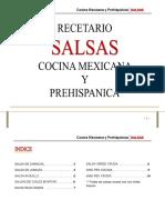 90068037 Recetario SALSAS Cocina Mexicana Gastronomia a Libreta Abierta