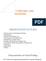 Report Writing and Marking
