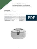 Ultraschallreiniger Ultrasonic 2800 D
