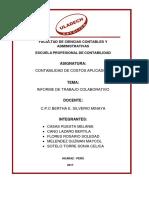 Informe de Trabajo Colaborativo Costos Aplicados i