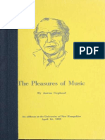 The Pleasures of Music - Copland, Aaron, 1900-1990