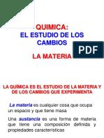 1. La Materia, Unidades y Medidas Química General