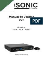 Manual Do Usuário Dvr 7204 7208 7216