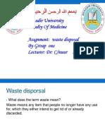 Waste Disporsal