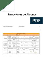 Reacciones de Compuestos Organicos Alcan
