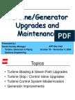 5 - Turbine Generator Upgrades & Maintenance
