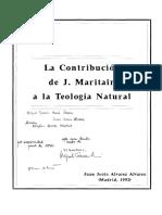 Alvarez, La contribucion de J Maritain a la Teología natural.pdf