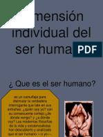 Dimensión Individual Del Ser Humano Ruben
