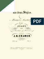 Cramer Les Deux Styles, Op.97 (1842)